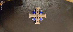925 jelzèsű Jeruzsálem bross+kis medál