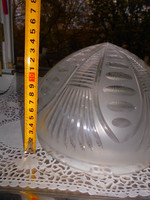 Antik  nagy méretű csiszolt  lámpabura