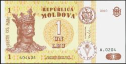 Moldova 1 Lei 2010 UNC