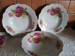 3db Zsolnay gyöngyös tányér