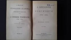 A szerbek története I. (1877) Unicus kiadás!