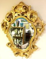 Florentin tükör,faragott aranyozot fa,kb. 100 éves