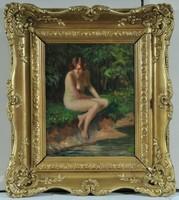 Szöllösy János (1884-?), Akt egy nőröl a folyó partján