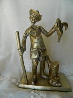 Vadász és a fácán, réz (öntvény) szobor