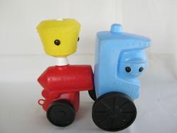 Retro trafikáru DMSZ műanyag játék mozdony vonat
