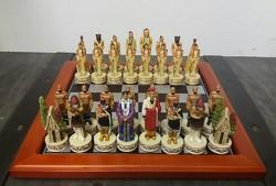 Indián sakk készlet fém (1451)
