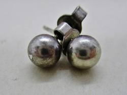 Szép régi ezüst gömb fülbevaló