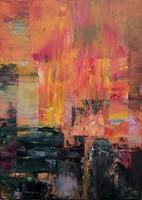 """""""Hot evening"""" 50x70cm Edetigazolással, Püspök Anita szignózott festmény, Közvetlen a művésztől!"""