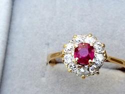 Arany gyűrű rubin-brill