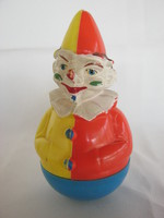 Retro Western Germany műanyag játék keljfeljancsi bohóc Rolly-Toys