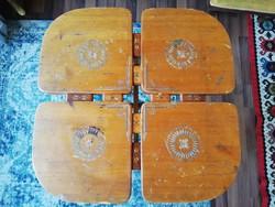 Különleges intarziás asztal lerakóasztal kisasztal konzolasztal