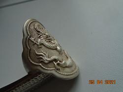 Szakrális látványos régi Tibeti kézműves Sárkány gyűrű