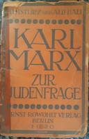 KARL MARX : ZUR JUDENFRAGE     JUDAIKA