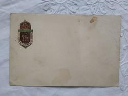Antik dombornyomott, sorszámozott levelezőlap 'Nemzeti Áldozatkészség Szobor' üdvözlőlapja 1915-1917