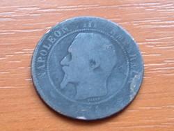 FRANCIA 10 CENTIMES 1854 B (?) VERDE III. NAPOLEON 90-70% Réz, 10-30% Cink #