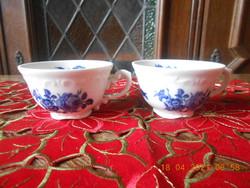Zsolnay kék rózsa mintás kávés csészék