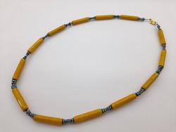 Sárga kerámia nyaklánc