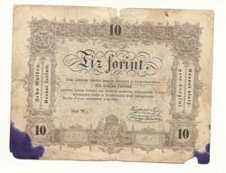 1848 as 10 forint Kossuth bankó papírpénz bankjegy 1848 49 es szabadságharc pénze tintáns bárnsz