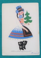 Rajz :Kecskeméty Károly,régi képeslap 1972