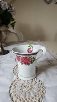 Különleges formájú,rózsás,aranyozott csésze,pohár