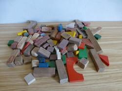 Extrém ritka antik Anker építő játék eredeti mészkőből és fából