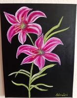 Virágszál című festmény