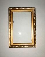 Régi képkeret üveggel 11*16,1 cm (n-6)