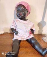 Fekete porcelan baba elado