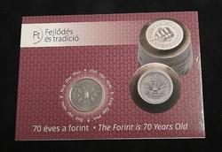 70 éves a Forint. 50 Forint 2016, elsőnapi veret.