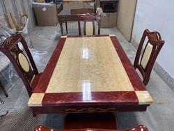 Valódi márványlapos étkező szett 4 székkel