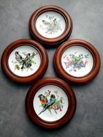 Porcelánbetétes képek fakeretben, Schwarzenhammer madarak