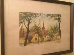 Jancsó Zoltán Szentendrei tájképe .