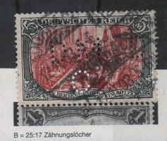 Deutsches Reich 0700 Mi 81 B b     6.000,00 Euró 1903.11.12