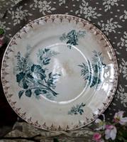 Sarreguemines U & C Flore bicolor fajansz tányér