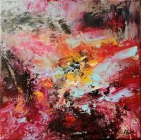 """Windy"" 30x30cm,original contemporary modern painting"
