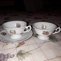 Angol porcelán 2 db. csésze + 1 alj