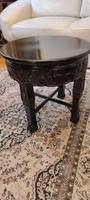 Gyönyörű antik különleges faragott,jelzett,Àllvàny, posztamens szobortartó viràgtartó szalon asztal
