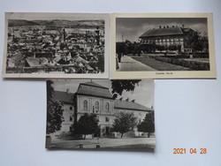 3 db régi magyar képeslap: Sopron, Sárospatak és Vác, 1950-es évek