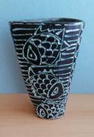 Gorka Géza iv kerámia halas váza
