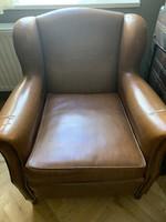 Figyelem akciós: 2 db Kényelmes csinos barna (mű)bőr fotelek párban