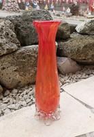 Gyönyörű  Midcentury üveg váza  Gyűjtői szépség igazi tavaszi hangulatú szépség
