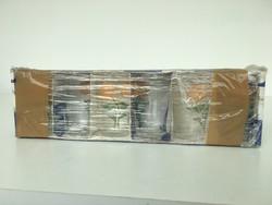Parádi üveg boros pohár 6 db bontatlan eredeti csomagolásban!!!