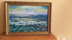 Szép festmény tenger, hajó Filim (?)