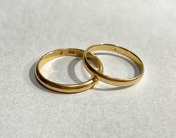 14k arany karika gyűrűk párban- 5,12g