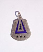 6 db. kék köves, tűzzománcos, art deco medál, 1914