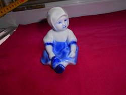 ZSOLNAY  ANNUSKA figura- ritka kék színezéssel