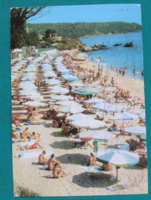 Bulgária,Várnai strand,képeslap 1976