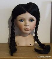 Vadonatúj, nem használt műszálas  játék baba paróka eladó- csak a paróka eladó a babafej nem!