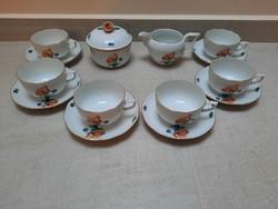 Herendi Pipacs mintás porcelán teáskészlet teás készlet