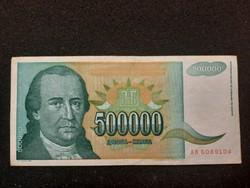 Gyönyörű 500000 Dínár 1993